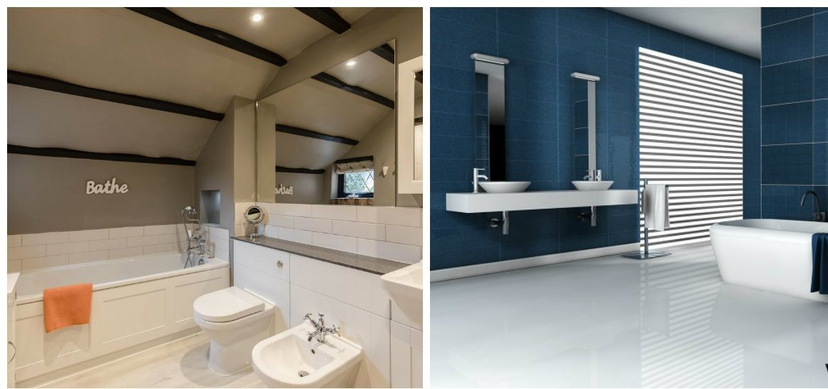 2019 bathroom trends, loft style in bathroom trends 2019