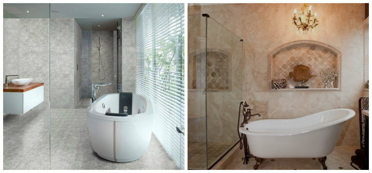 2019 bathroom trends, marble and granite textures in 2019 bathroom trends