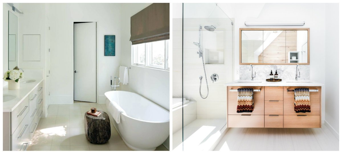 2019 bathroom trends, Scandinavian style in bathroom designs 2019