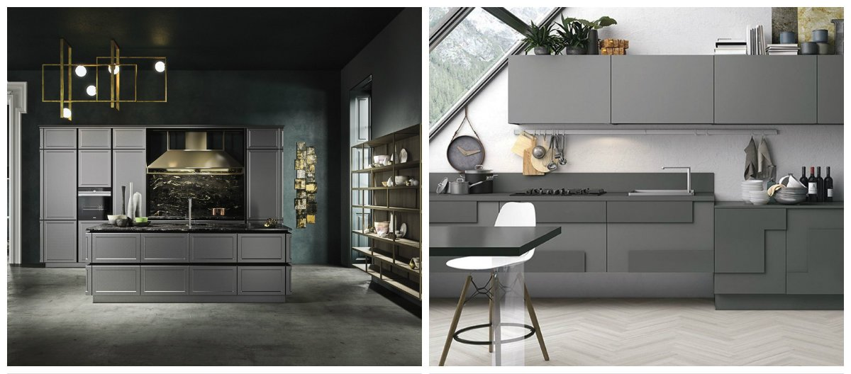 2019 kitchen trends, stylish ideas of grey kitchen 2019
