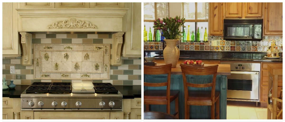 2019 kitchen trends, kitchen interior design with relief tiles