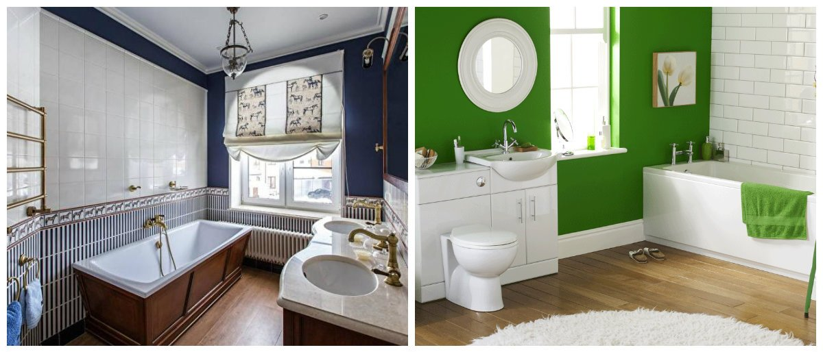 bathroom designs 2018, blue bathroom design, green bathroom design