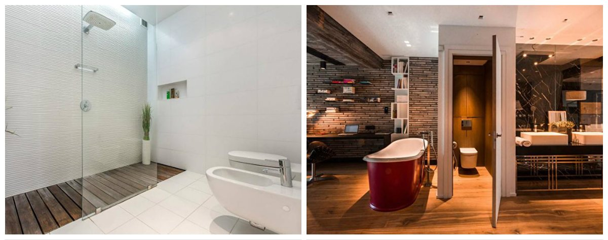 bathroom designs 2018, fashionable bathroom design in one style