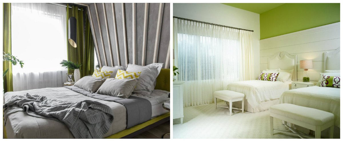 bedroom decorating ideas , bedroom design with green hues