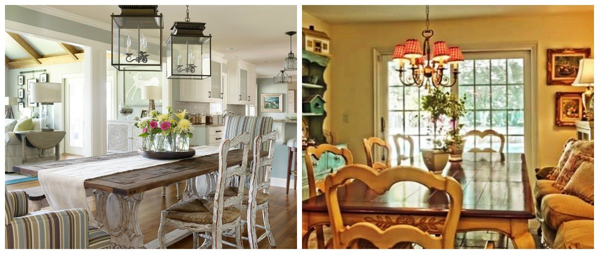 dining room 2018, fashionable country style dining room