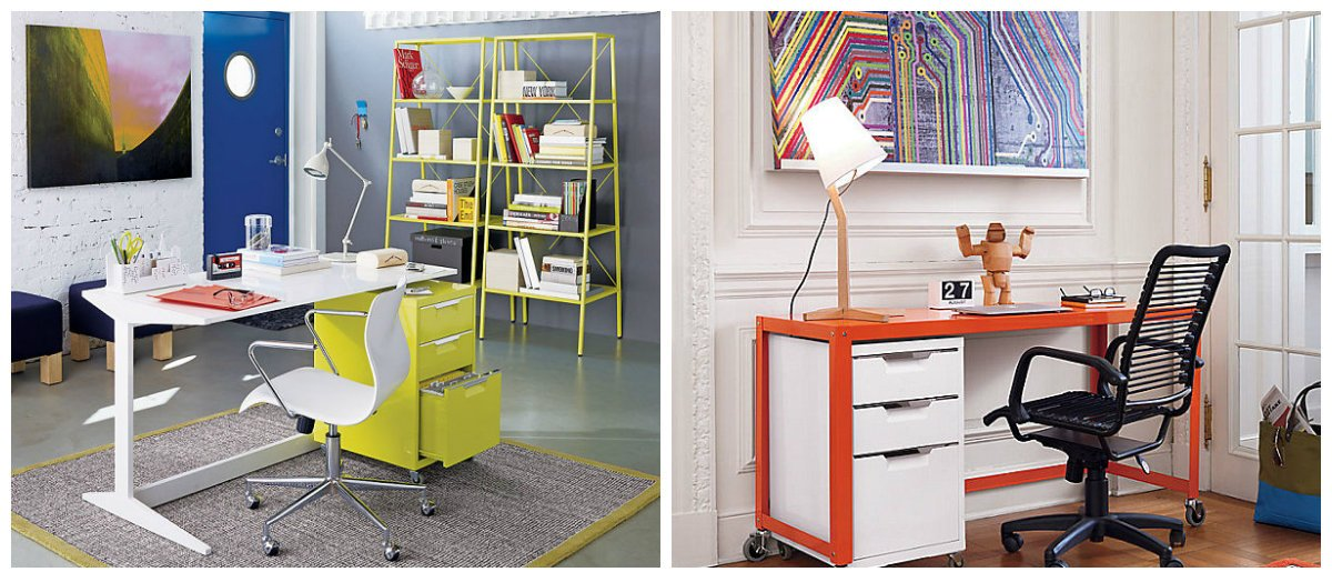 home office 2019, art deco style in home office interior design 2019