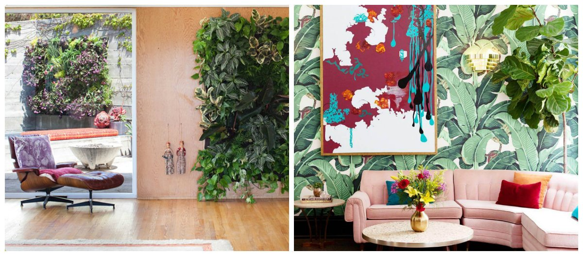 interior design 2019, green and greenery in interior design trends 2019