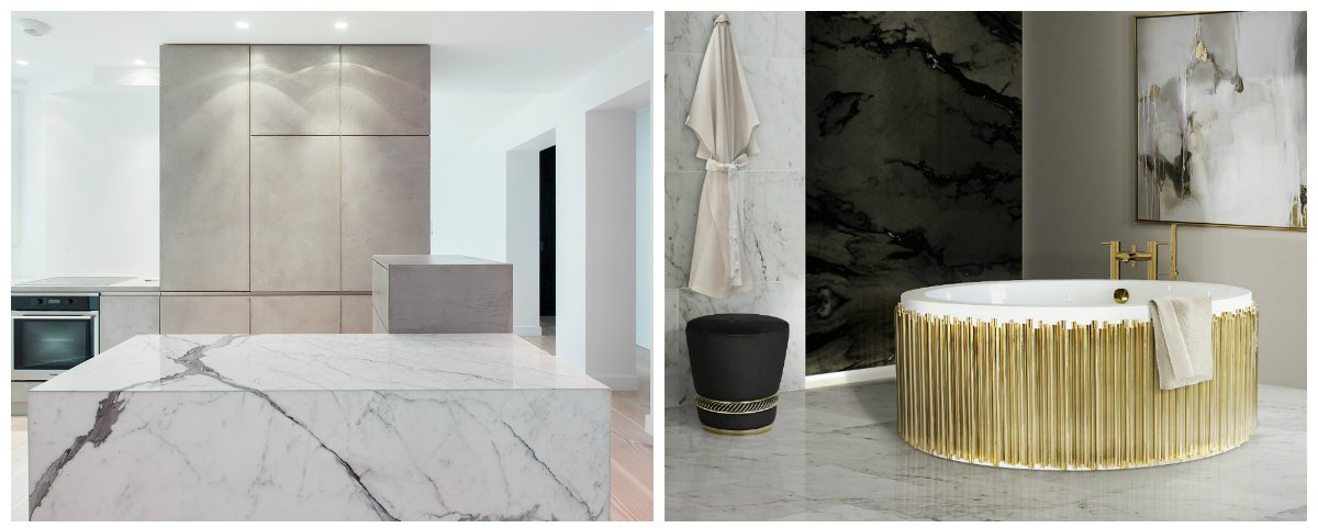 interior design 2019, marble in interior design trends 2019