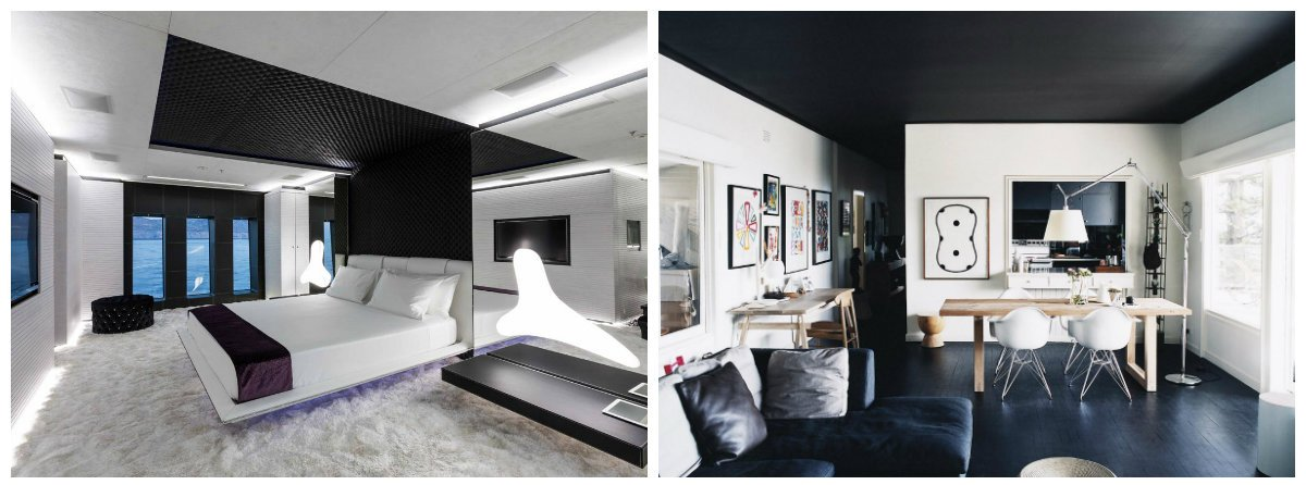 interior design trends 2018, black color in interior design 2018