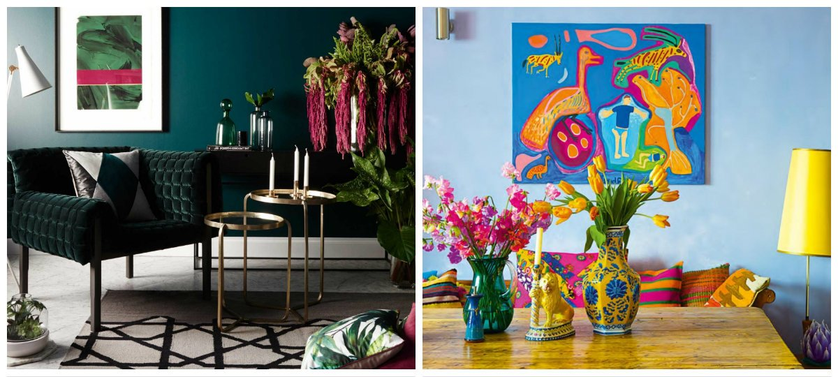 interior design trends 2019, stylish colors and trends for interior design 2019