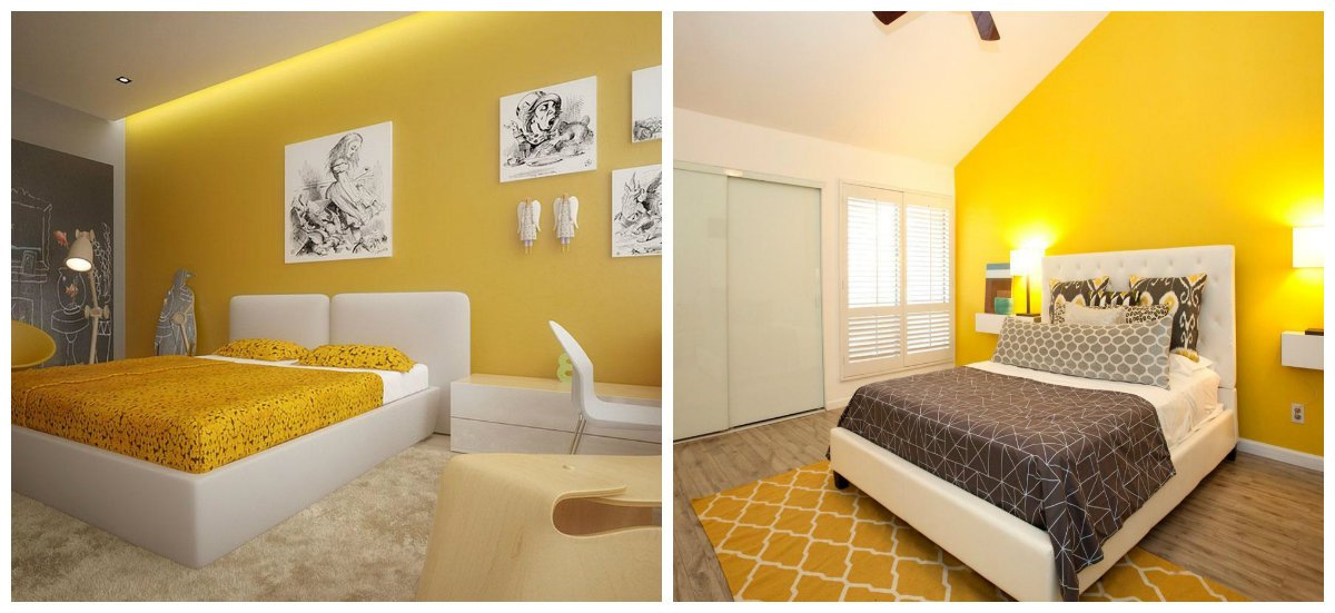 interior design trends 2018, yellow color in interior designs 2018