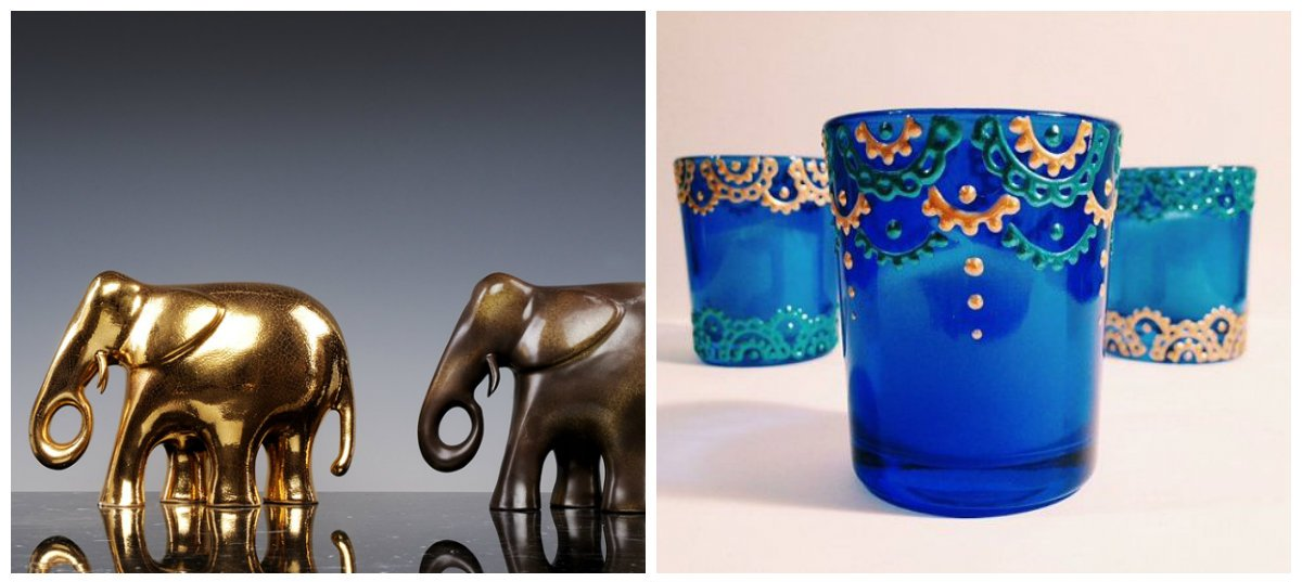 Indian home decor, stylish candles, statuettes in Indian home design