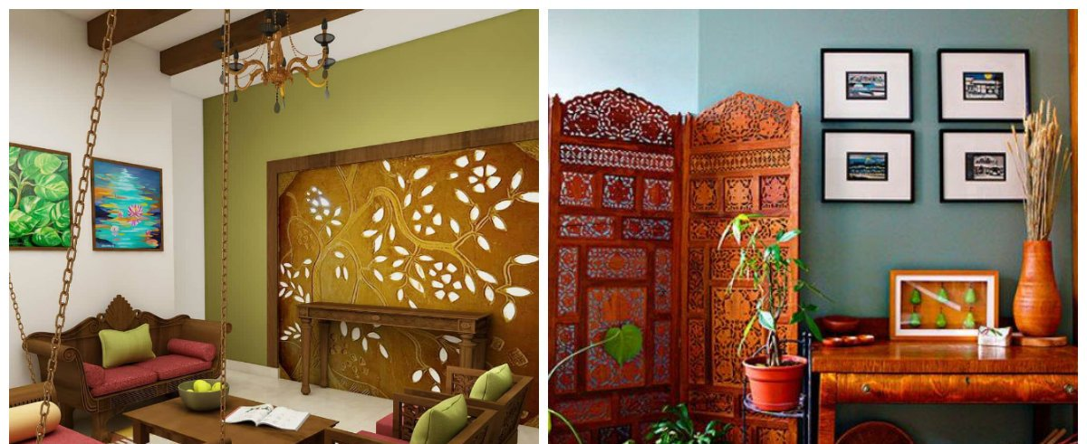 Indian home decor, wall color in Indian home design