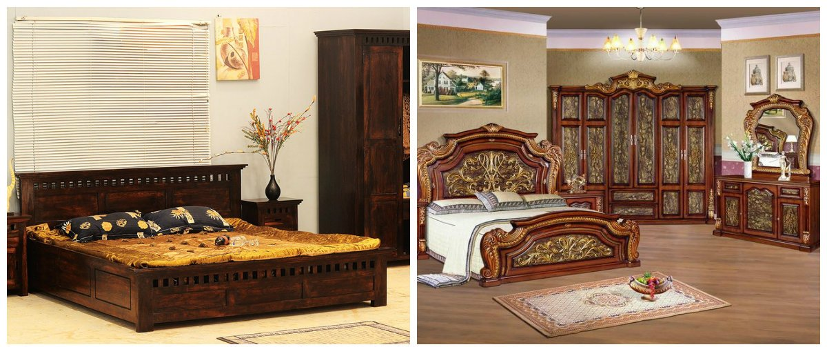 Indian home decor, wood furniture in Indian home design