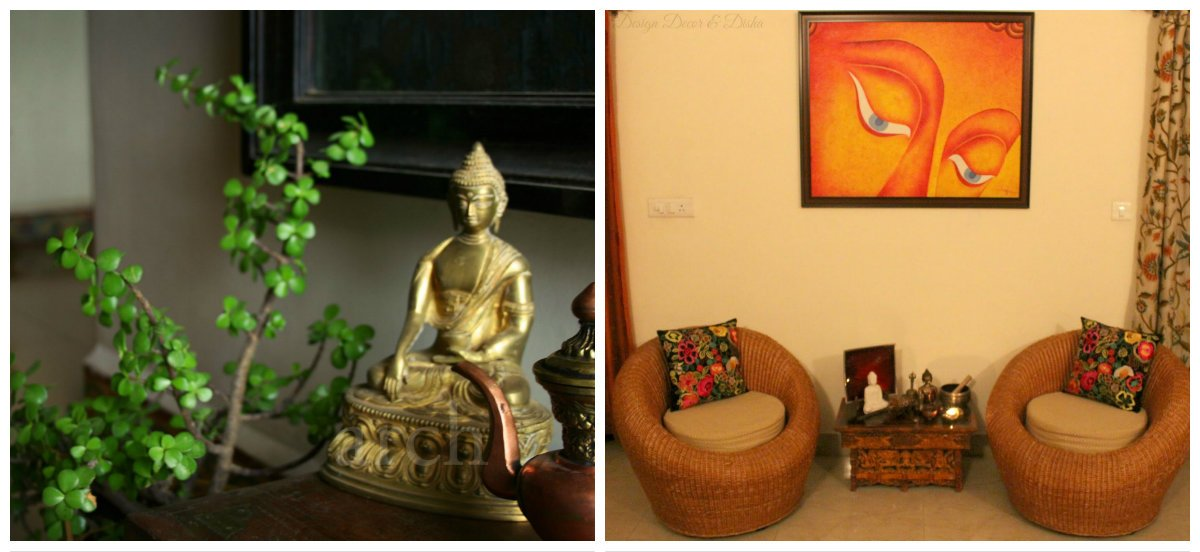 Indian interior design, sculptures and paintings in Indian interior design