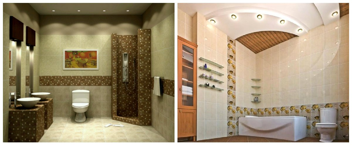 bathroom ideas 2019, ceiling design in bathroom trends 2019