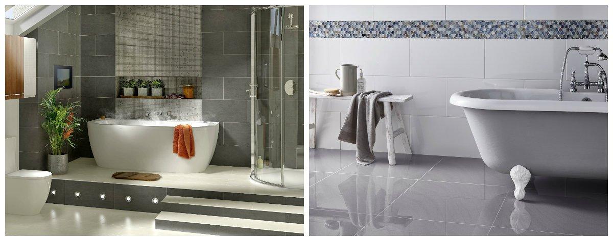 bathroom ideas 2019, bathroom design with glossy surface