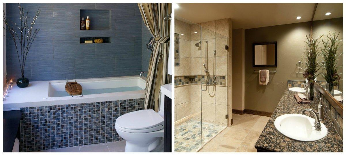 bathroom ideas 2019, mosaic bathroom 2019