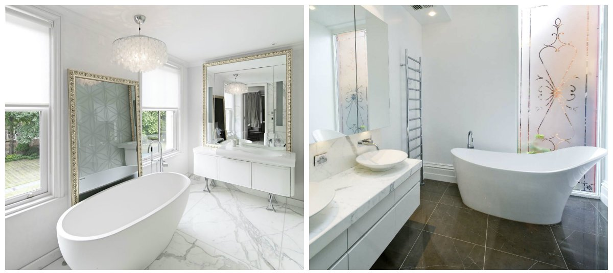 bathroom ideas 2019, white bathroom design