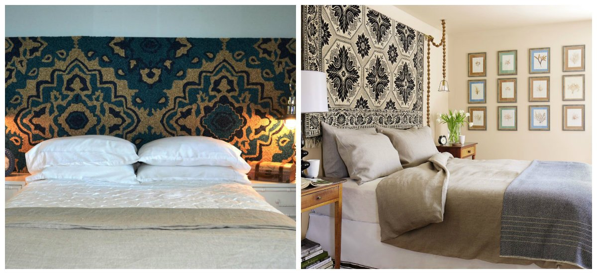 bedroom decorating tips, carpets in headboard