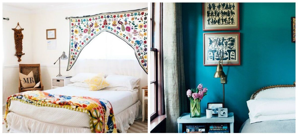 bedroom decorating tips, calm colors, colorful bedspread