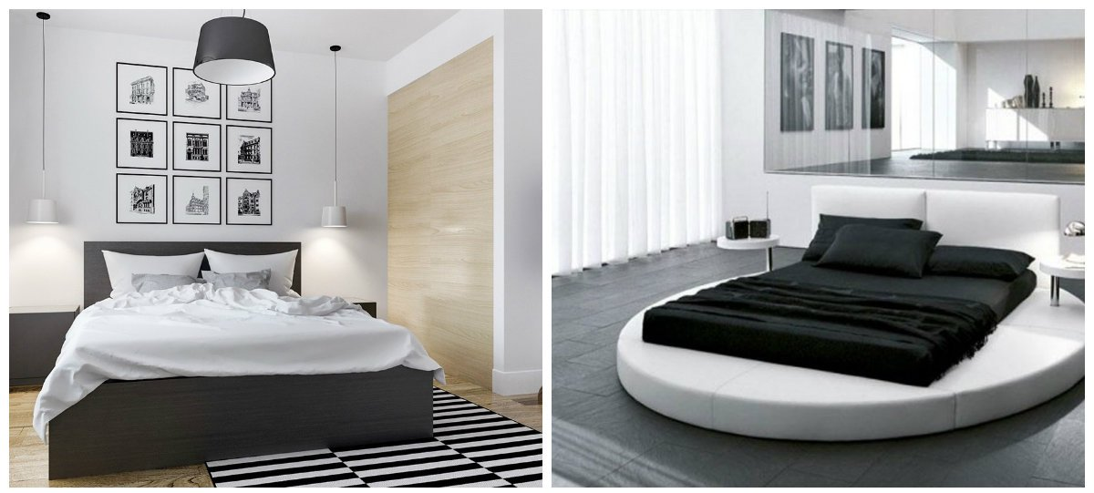 black bedroom ideas, black and white bedroom design 2018