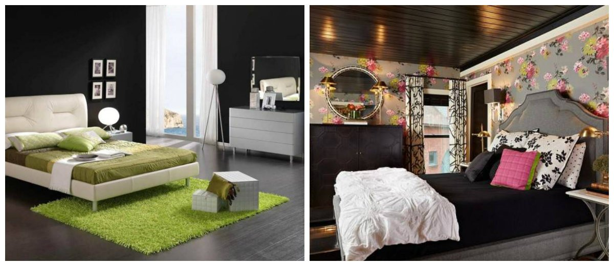 black bedroom ideas, bright lighting and stylish decors for black bedroom