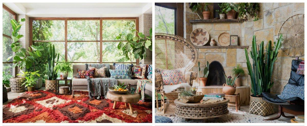boho living room, Bohemian decor in boho living room design