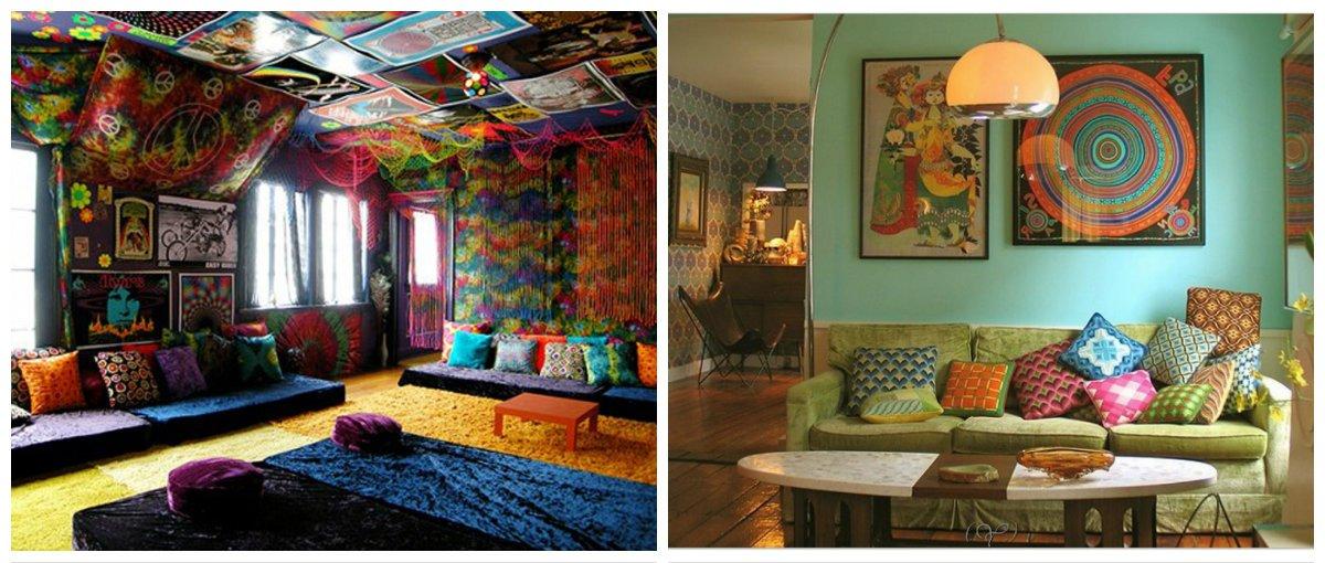 boho living room, boho hippie style in living room design