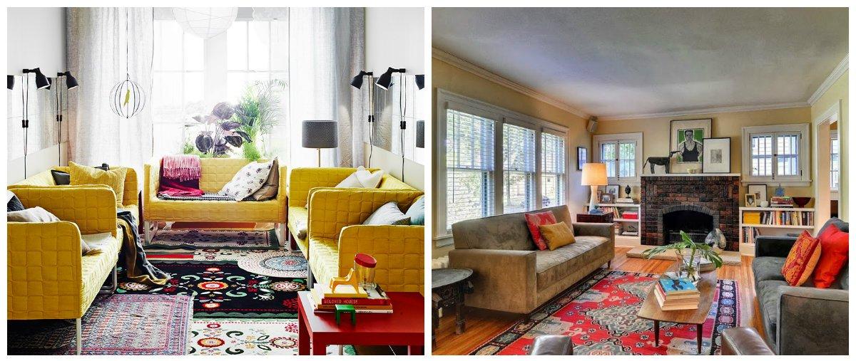 boho living room, classic Bohemian style in living room design