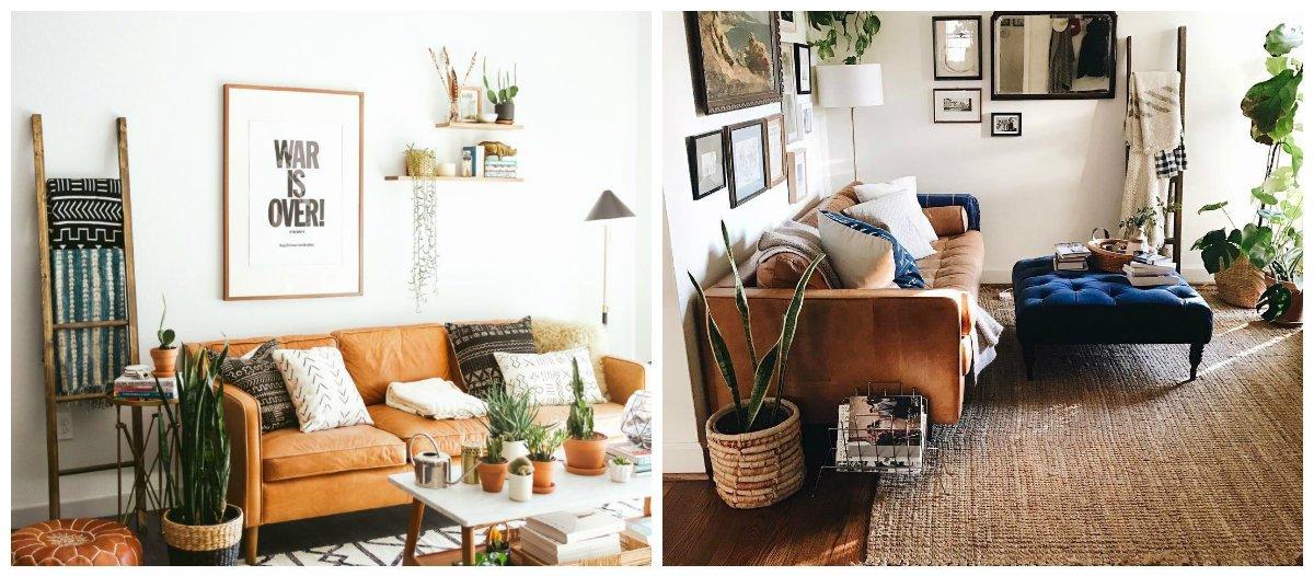 boho living room, boho-eco living room interior design