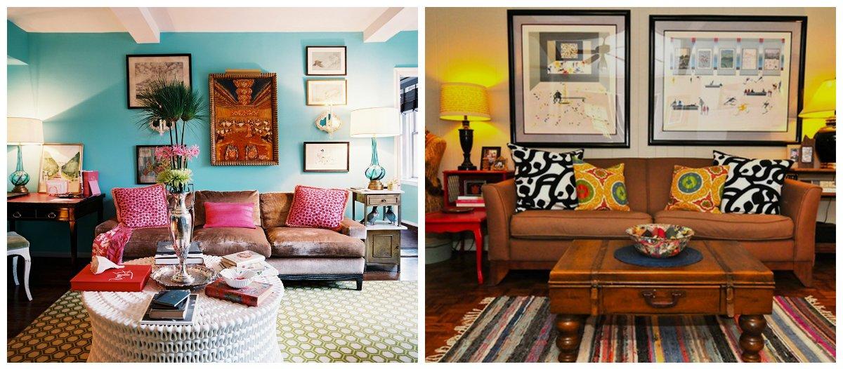 boho living room, sofa style in boho living room design