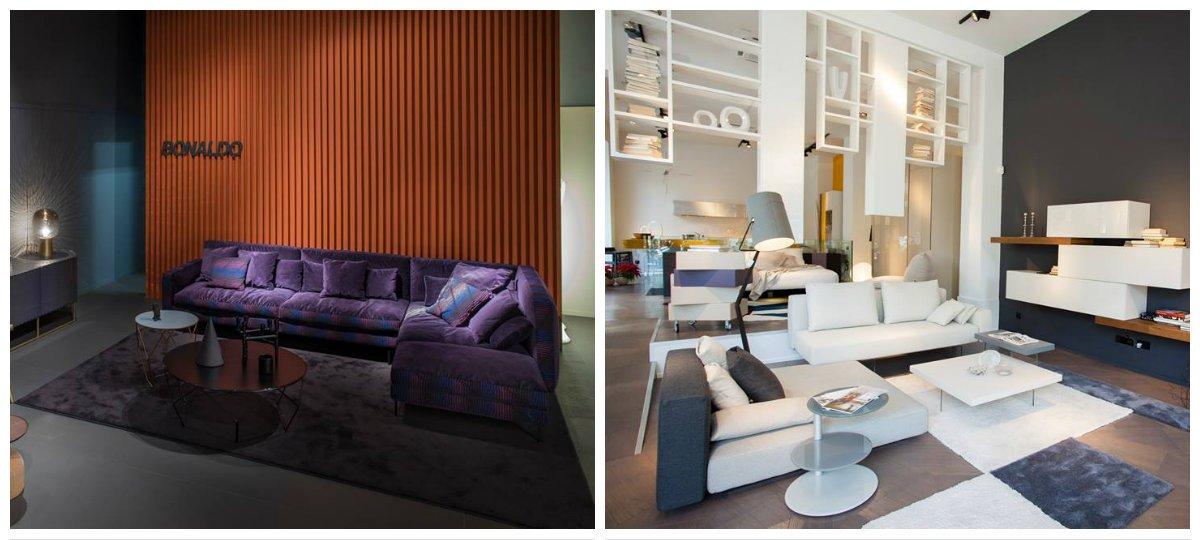 furniture trends 2019, blue velvet in furniture design 2019