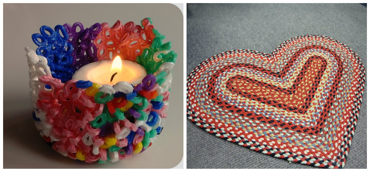 home decor ideas 2019, candlestick with beads, braided mat
