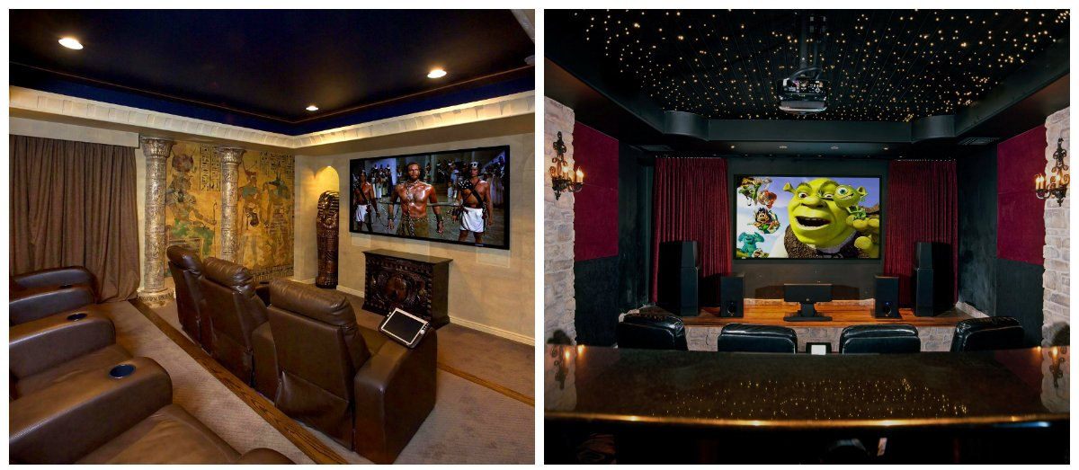 Home Theater Design, Wall Design Ideas For Home Theater