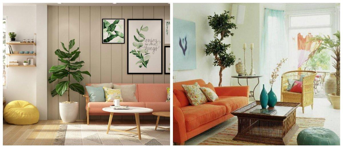 interior color schemes, coral+green+blue color combination