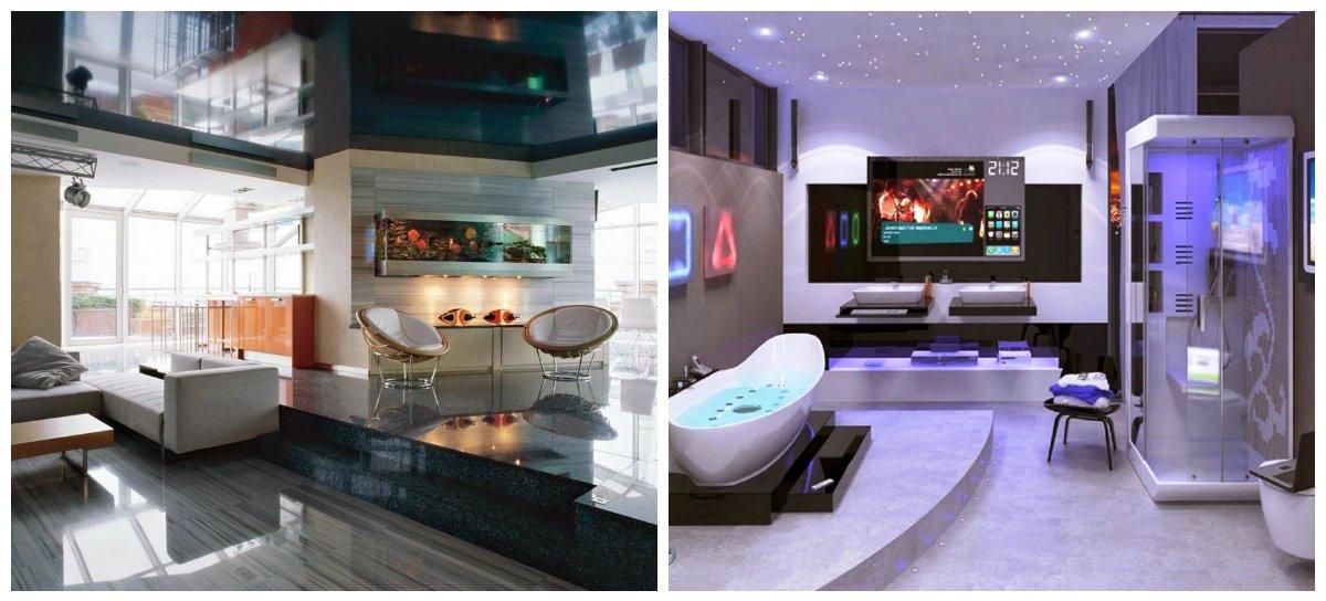 modern interior design 2019, hi tech style in modern interior design 2019
