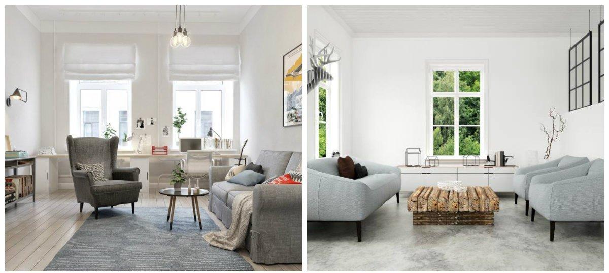 modern interior design 2019, Scandinavian style in modern interior design 2019