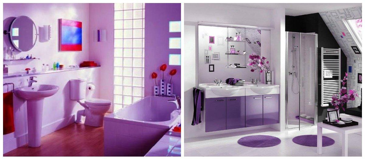 purple bathroom ideas, stylish decor ideas for purple bathroom