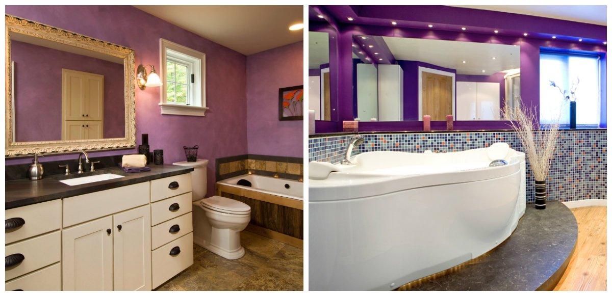 purple bathroom ideas, stylish design ideas of purple bathroom