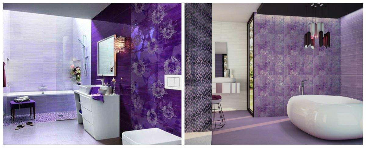 purple bathroom ideas, purple tiles in purple bathroom design