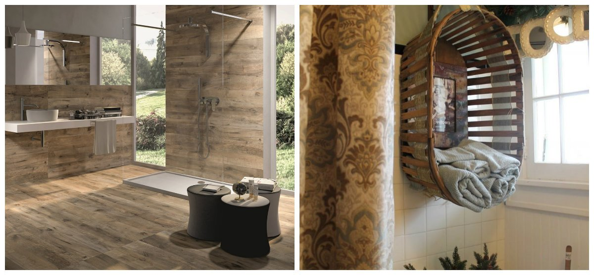 rustic bathroom decor, stylish decors and design ideas for rustic bathroom