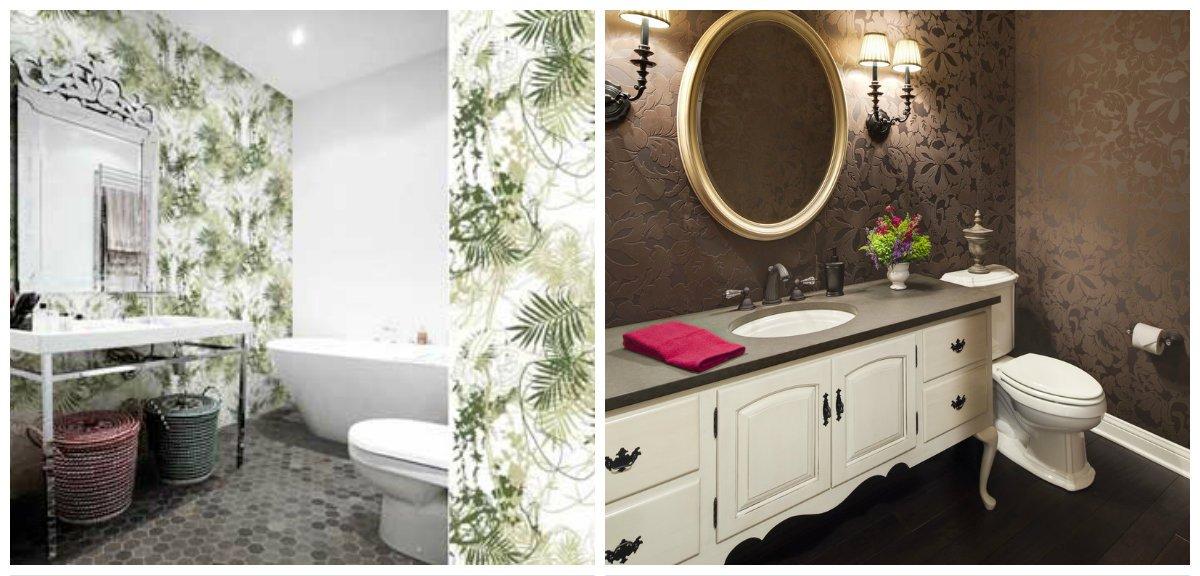 rustic bathroom decor, floral design in rustic bathroom decor
