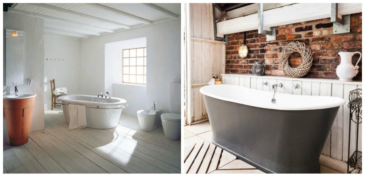 rustic bathroom decor, Scandinavian rustic bathroom design