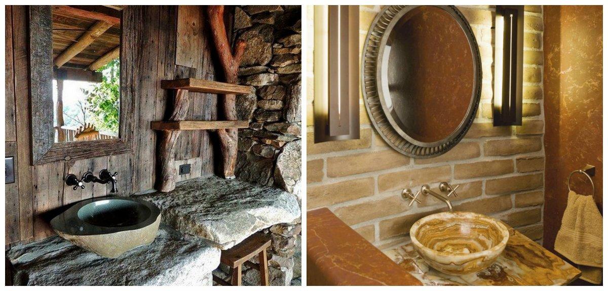rustic bathroom decor, stylish trends of rustic bathroom