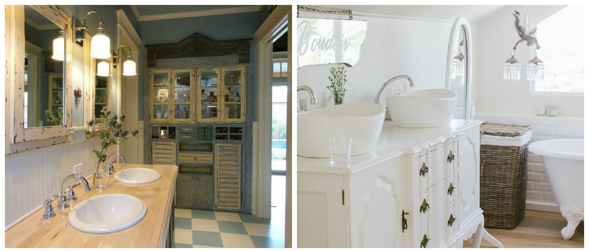 shabby chic bathroom decor, furniture in shabby chic style