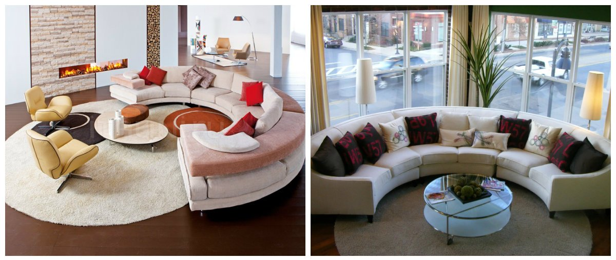 sofa design 2019, round sofa style in sofa trends 2019