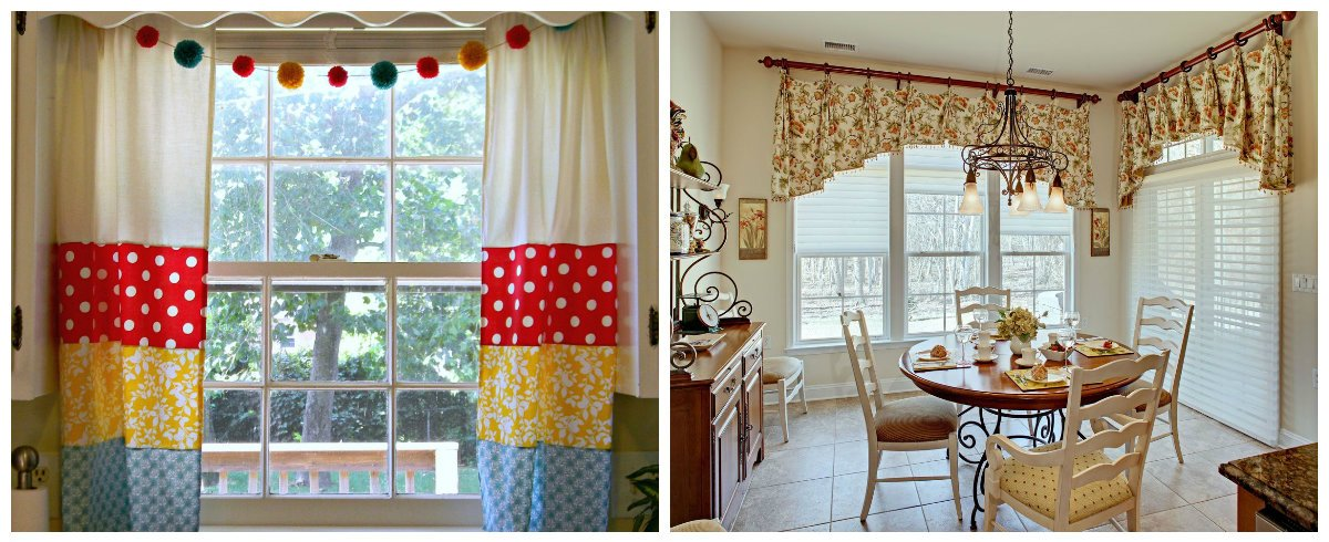 Vintage Dining Room Curtains In Design