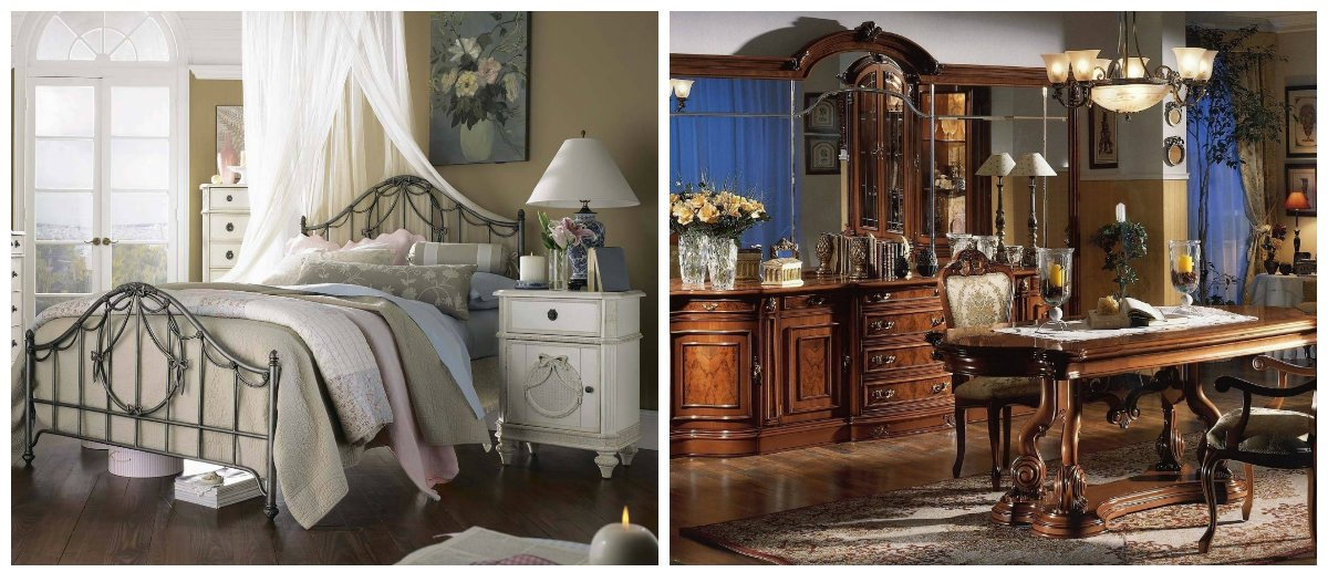 vintage interior design, stylish colors in vintage style