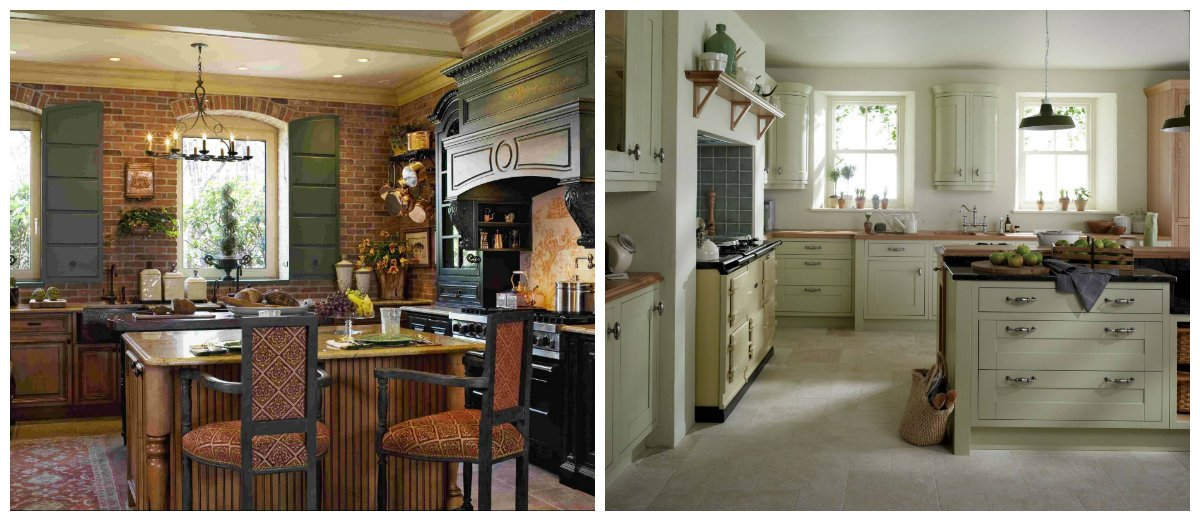 vintage interior design, kitchen design in vintage style